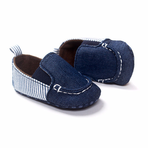 Navy Cotton Boat Shoes - Addy's Attic