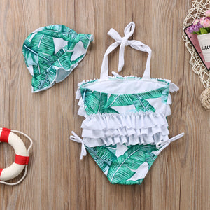 Mommy and Me Palm Paradise Swimsuit - Addy's Attic