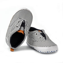 Striped Cotton Moccasins - Addy's Attic