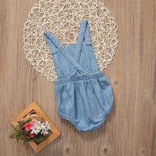 Sweet and Simple Denim Romper - Addy's Attic