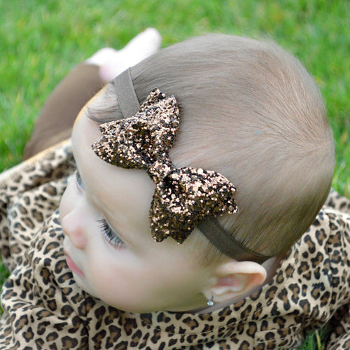 Small Sparkle Bow Headband - Addy's Attic