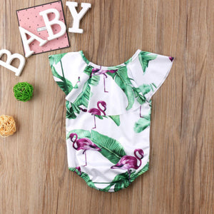 Flamingo Ruffle Swimsuit - Addy's Attic