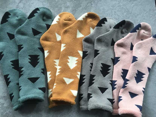 Geo Trees Knee Socks - Addy's Attic