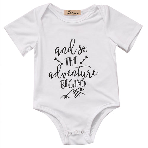 The Adventure Begins Onesie - Addy's Attic