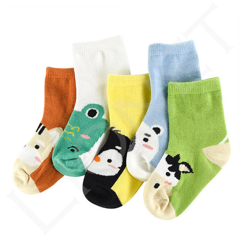 5 Pack Soft Cotton Animal Socks - Addy's Attic