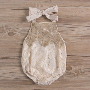 Sweet-Cream Vintage Romper - Addy's Attic