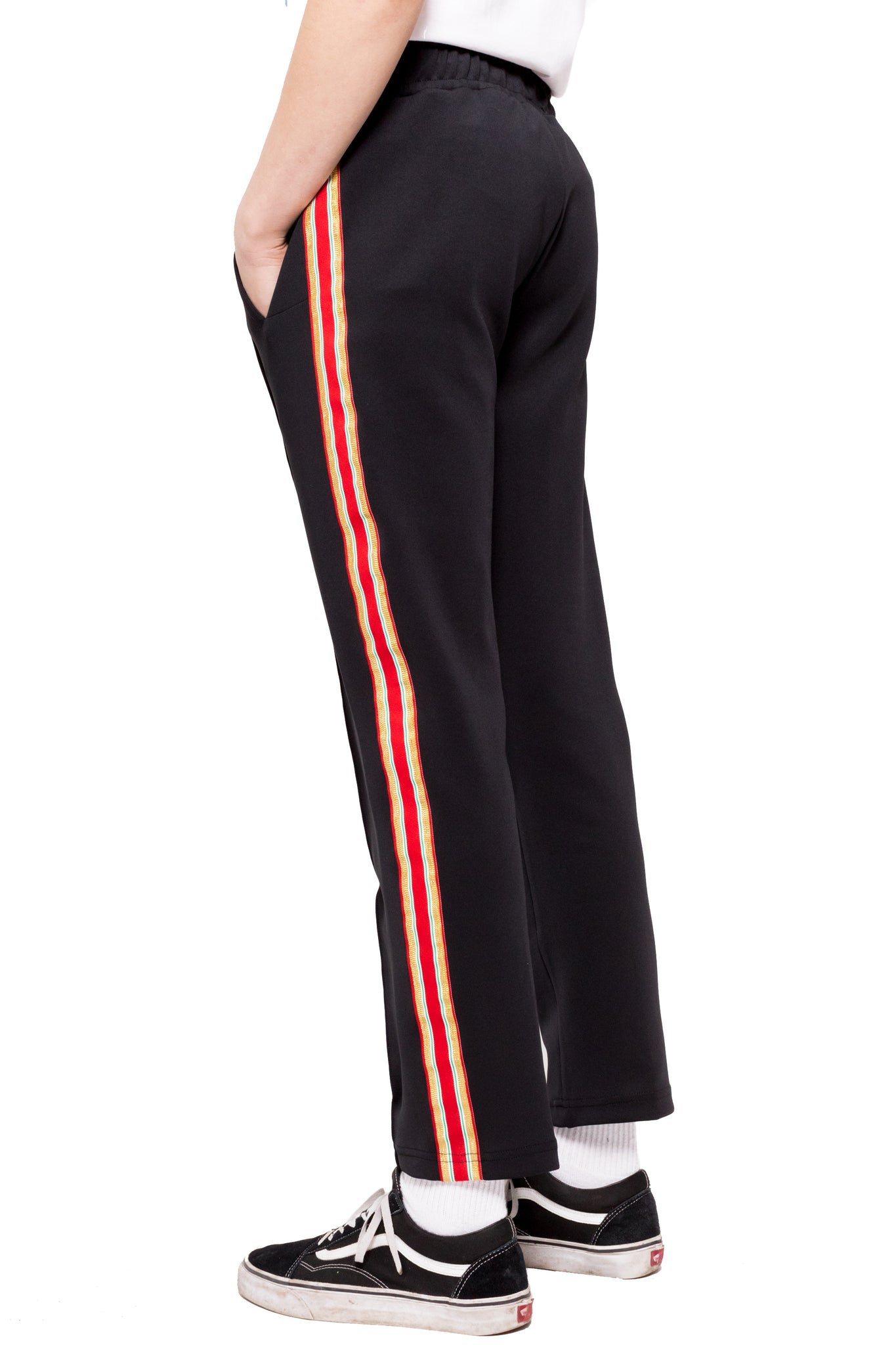 Bravo Track Pants - Black/Red