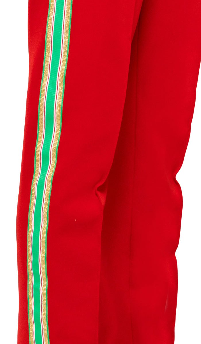Bravo Track Pants - Red/Green