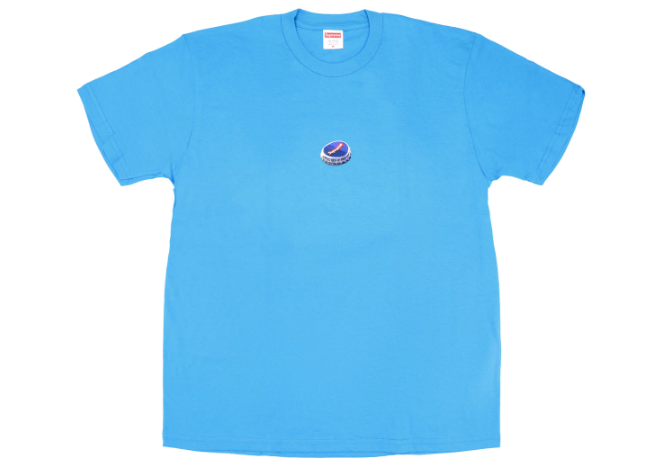 Supreme Bottle Cap Tee Bright Blue (Size LARGE)
