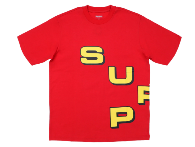 Supreme Stagger Tee Red (Size LARGE)
