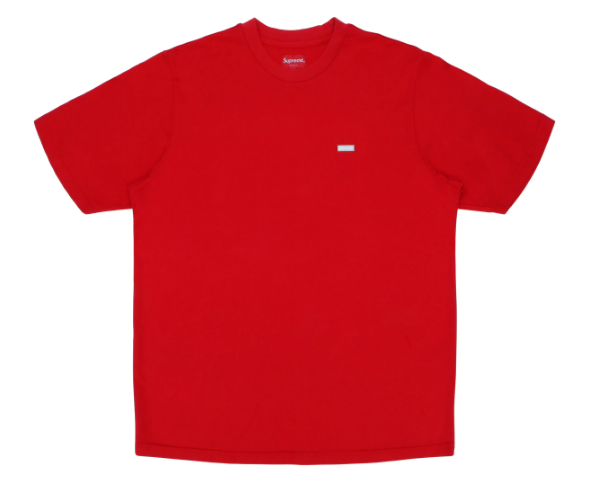 Supreme Reflective Small Box Tee Red (Size LARGE)