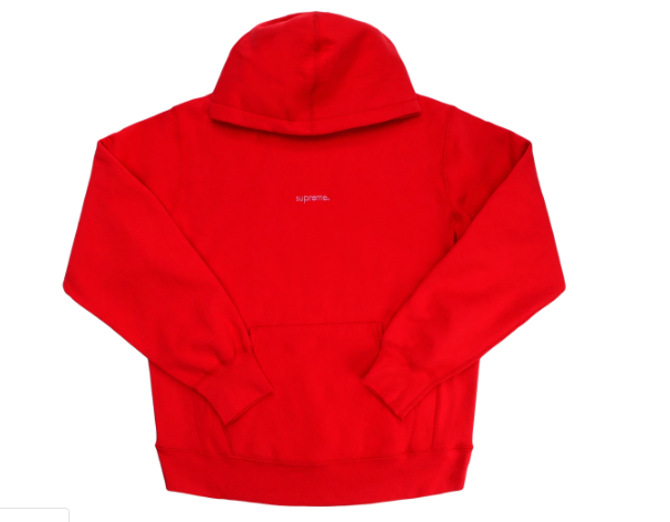 Supreme Trademark Hooded Sweatshirt Red (Size LARGE)
