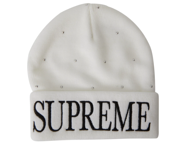 Supreme Studded Beanie White