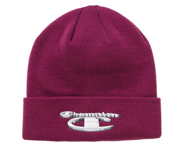 Supreme Champion 3D Metallic Beanie Bright Purple