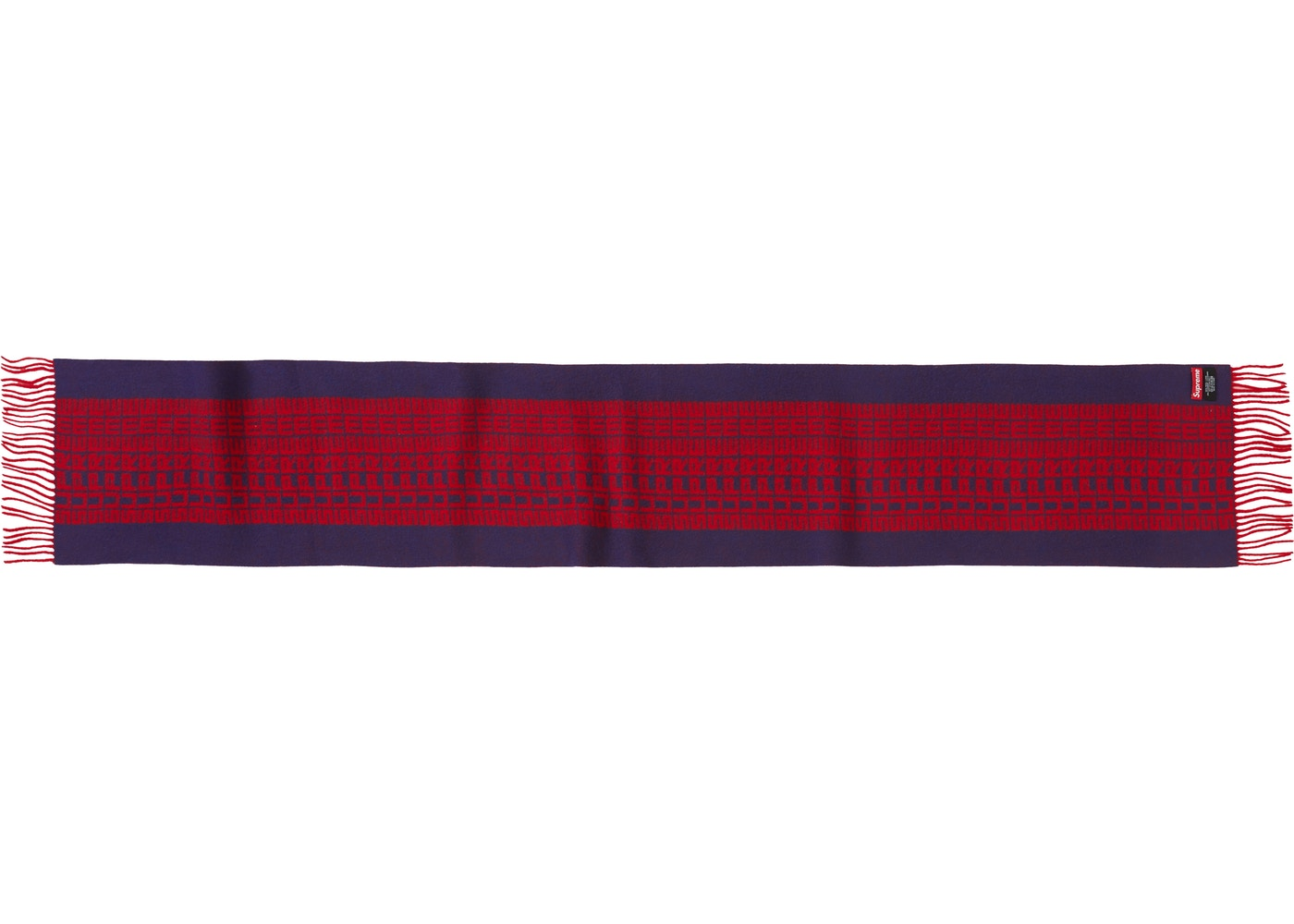 Supreme Logo Repeat Scarf Navy (mr)