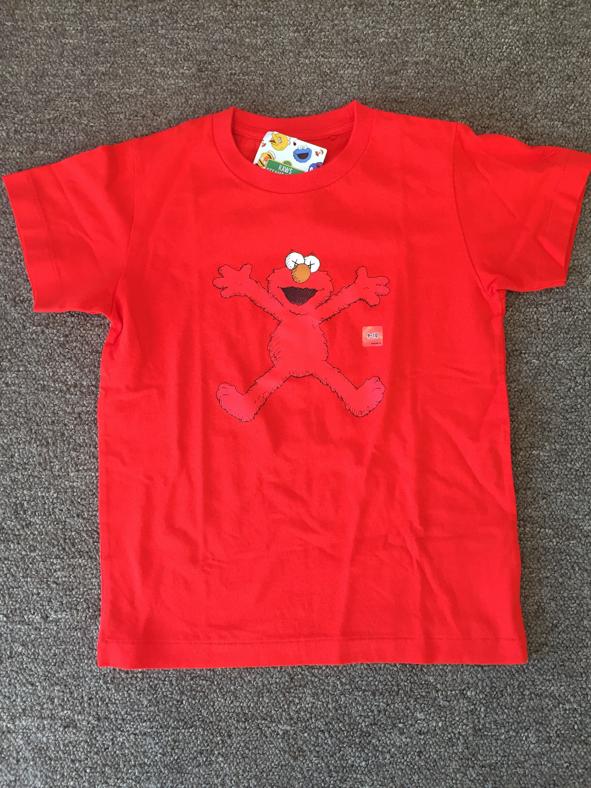 Kaws - Red - Elmo - Kids Size 9-10