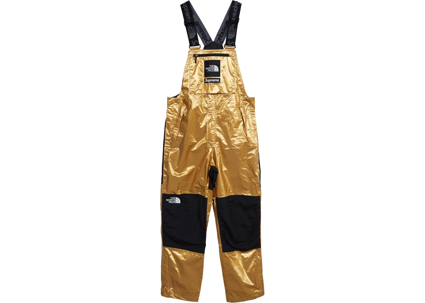 Supreme The North Face Metallic Mountain Bib Pants Gold Size Medium