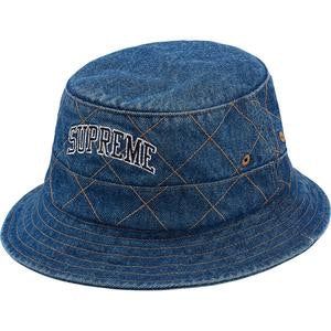 Supreme Diamond Stitch Crusher Hat Denim
