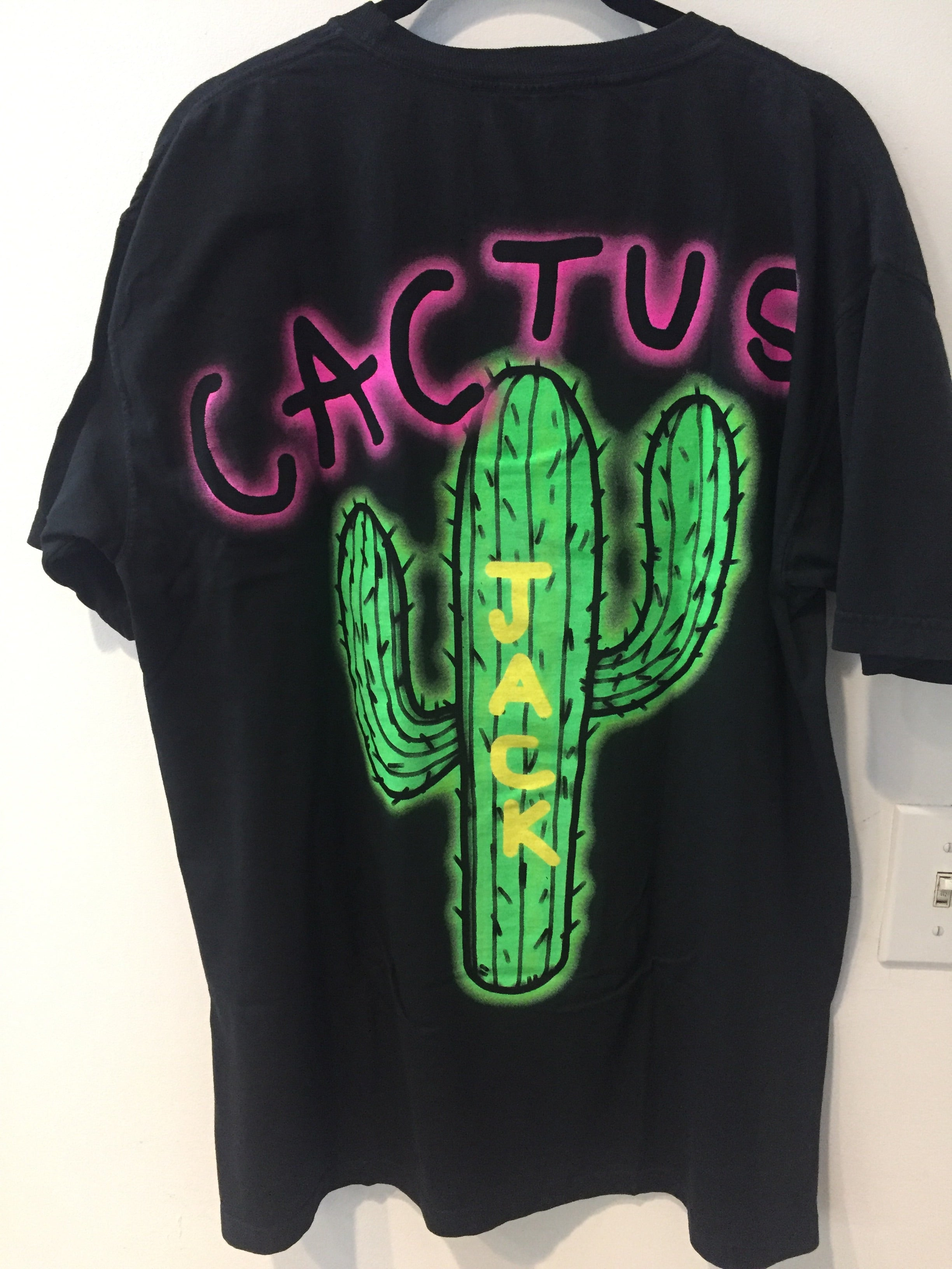 Travis Scott Cactus Jack Black Tee Shirt - L