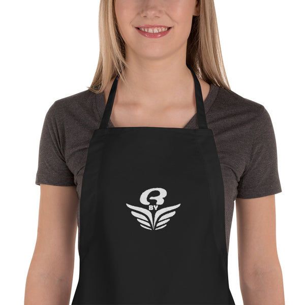 Tablier brodé RbyE Noir | Embroidered Apron RbyE Black