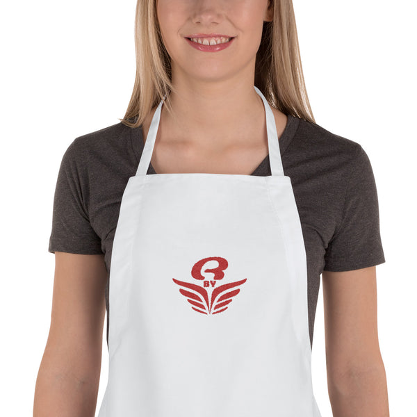 Tablier brodé RbyE Blanc | Embroidered Apron RbyE White