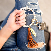 Load image into Gallery viewer, Stone Boho Key Ring
