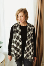 Load image into Gallery viewer, Plaid Draped Vest