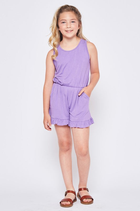 Kid's Solid Romper