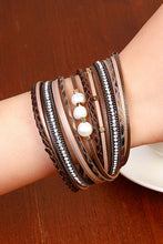 Load image into Gallery viewer, Layered Leather Bracelet