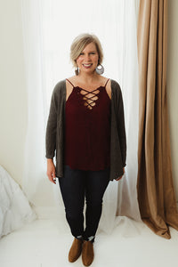 V-Neck Lattice Top