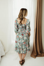Load image into Gallery viewer, Floral Square Neck Midi