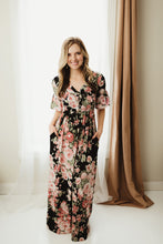 Load image into Gallery viewer, Ruffle Sleeve Floral Maxi