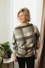 Load image into Gallery viewer, Off Shoulder Plaid