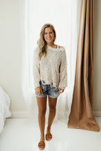 Load image into Gallery viewer, Distressed Crop Sweater