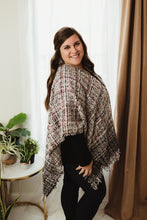 Load image into Gallery viewer, Fringed Poncho Cardi