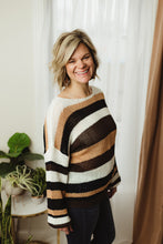 Load image into Gallery viewer, Multi Stripe Knit Sweater