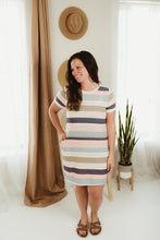Load image into Gallery viewer, Multi Stripe Knit Dress