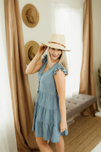 Load image into Gallery viewer, Chambray Mini Dress