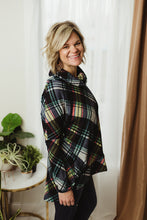 Load image into Gallery viewer, Plaid Turtle Neck Top
