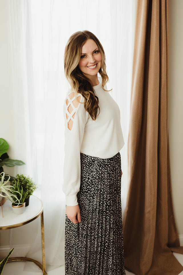 Crisscross Shoulder Top