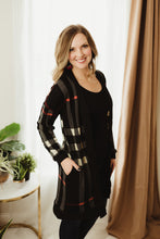Load image into Gallery viewer, Plaid Contrast Cardi