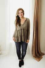 Load image into Gallery viewer, Tiered Tunic Hoodie