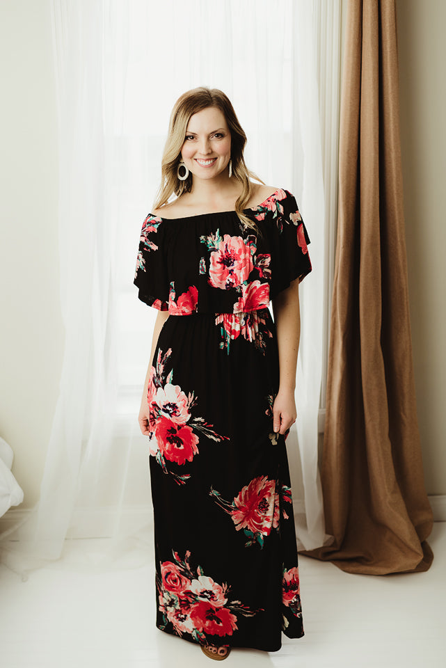 Floral Off Shoulder Maxi