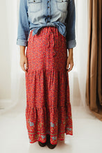 Load image into Gallery viewer, Tiered Floral Maxi Skirt