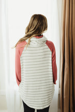 Load image into Gallery viewer, Mock Neck Stripe Raglan