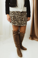 Load image into Gallery viewer, Animal Print Mini Skirt