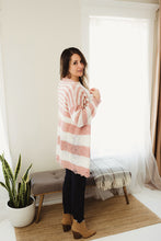 Load image into Gallery viewer, Striped Knit Distressed Cardi