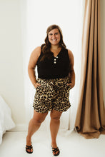 Load image into Gallery viewer, Leopard Printed Satin Shorts