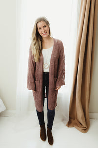Light Knit Long Cardi