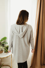 Load image into Gallery viewer, Hooded Side Slit Cardi